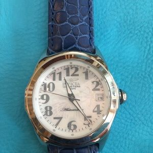 Automatic Leather Invicta Watch